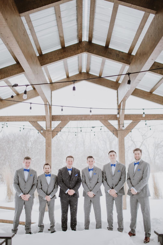 Winter palette for groomsmen.