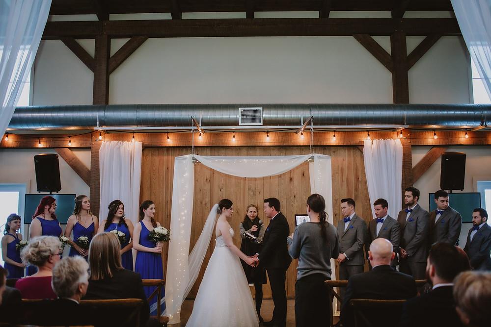 Manitoba wedding ceremony