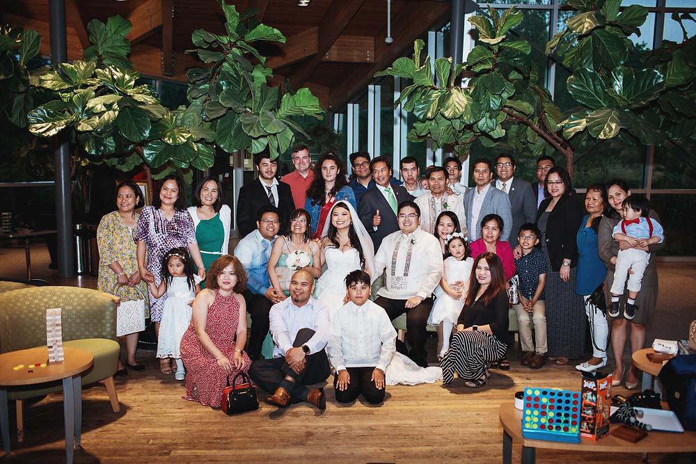 Winnipeg wedding reception at the Qualico Family Center in Assiniboine Park.