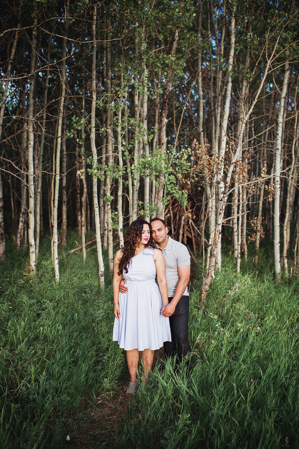 Winnipeg forest engagement photoshoot.