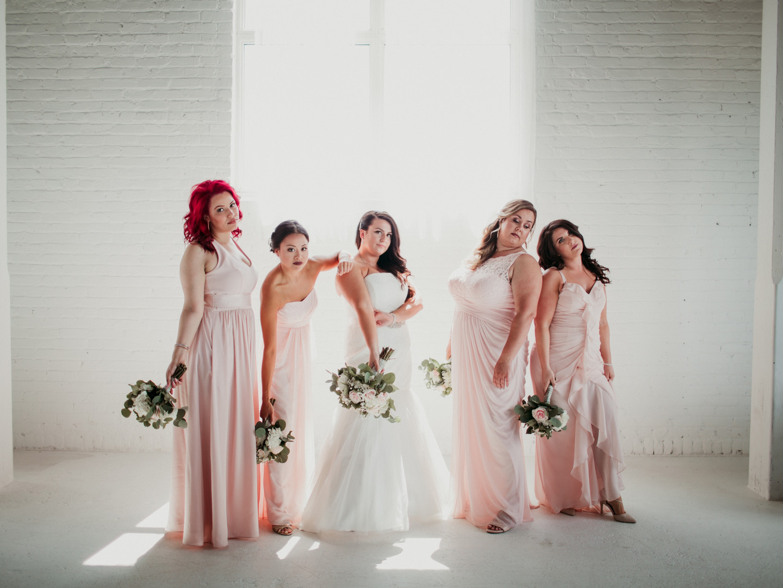 Bridesmaids Pose with Sass