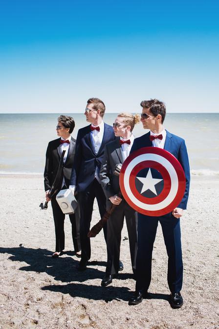 Marvel Avenger Themed Groomsmen