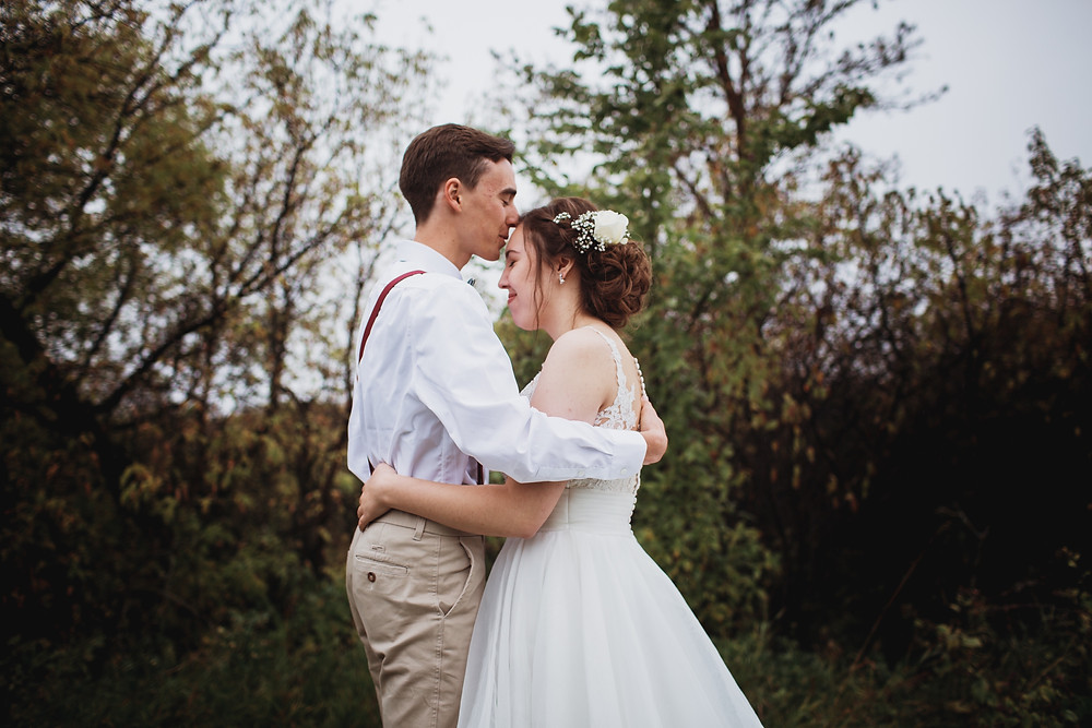 Fall wedding day in Southern Manitoba.