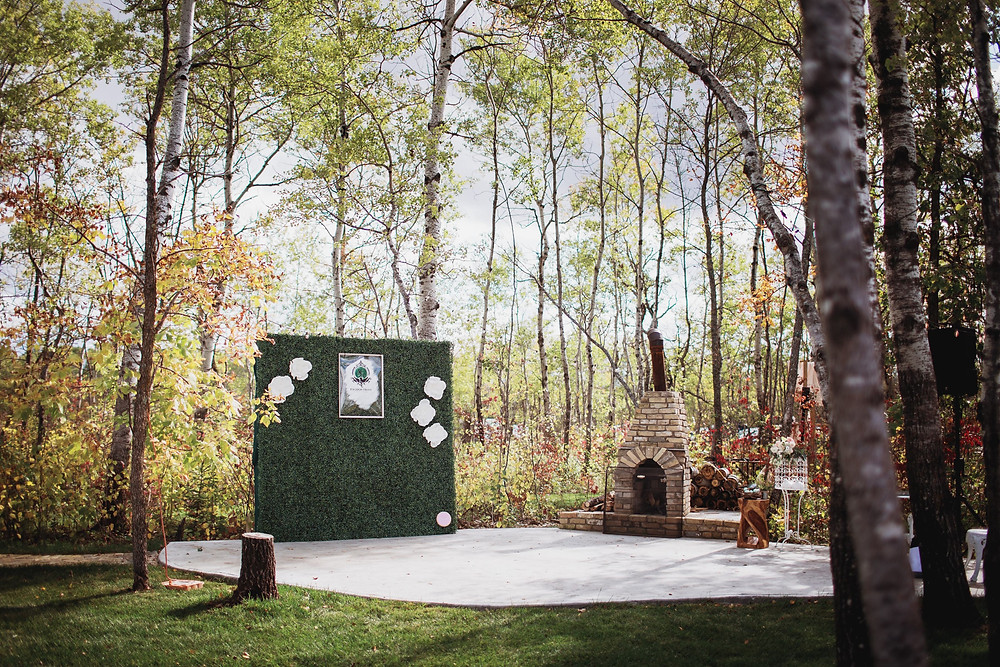 Greenery wall by Ornare, Manitoba event rentals.