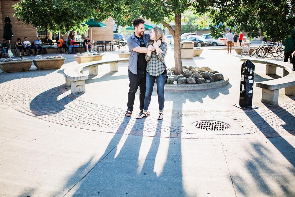 Winnipeg love story session in Osborne Village.