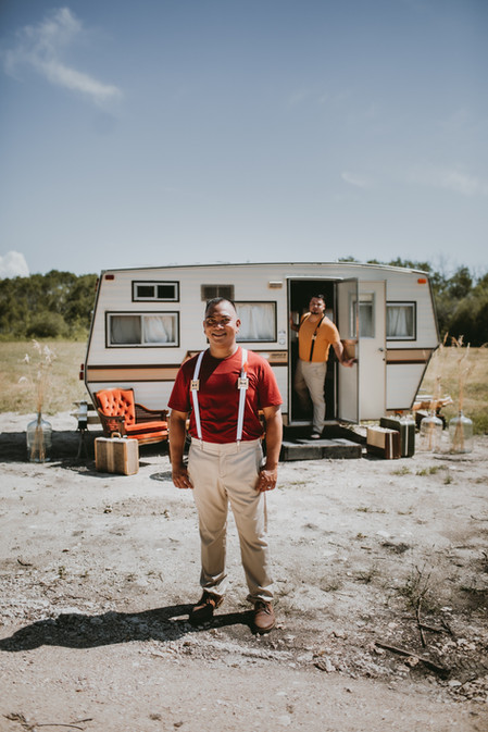 1970s Glamping Styled Wedding