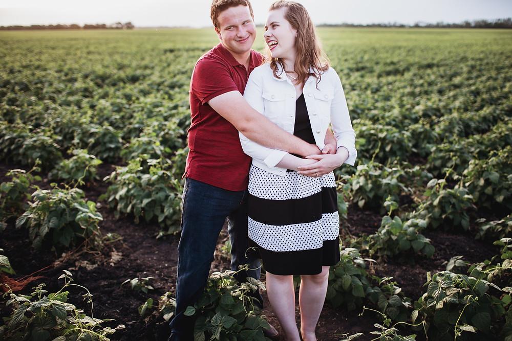 Manitoba farm engagement photoshoot in Portage La Prairie.