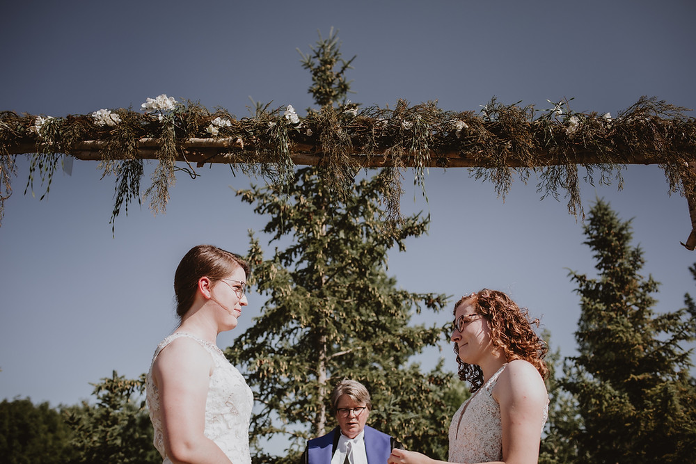 Intimate summer micro-wedding.