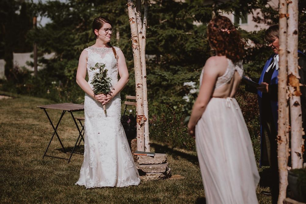 Winnipeg brides celebrate with micro-wedding.
