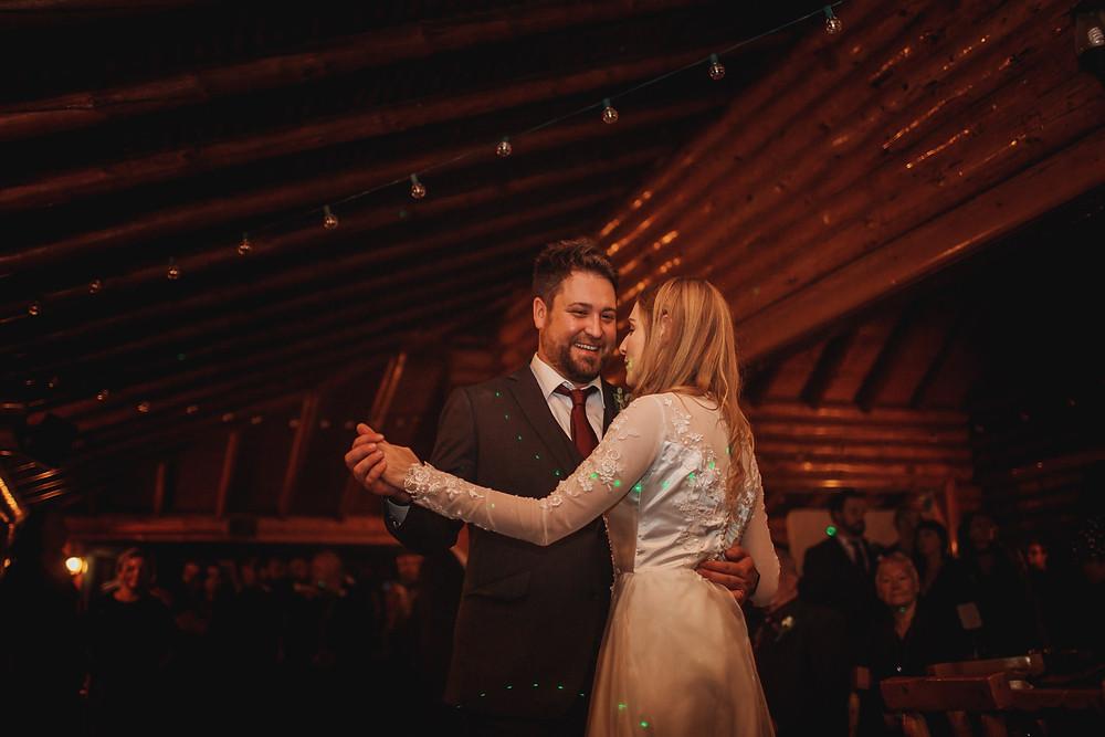 First dance between bride and groom.