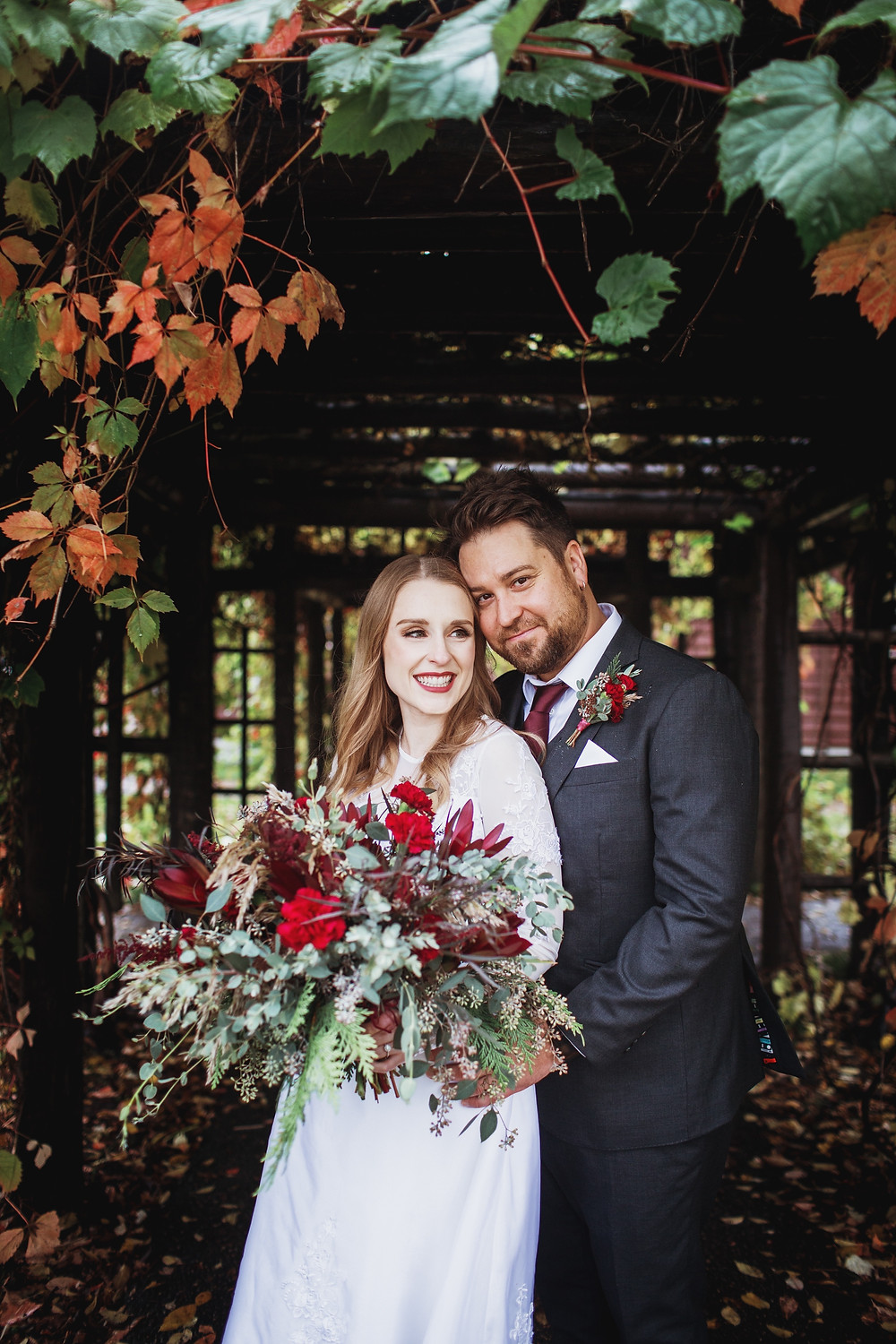 Manitoba bride and groom, fall wedding in Clear Lake.