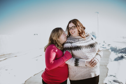 Same-sex Engagement Photo session at Gimli's Pier