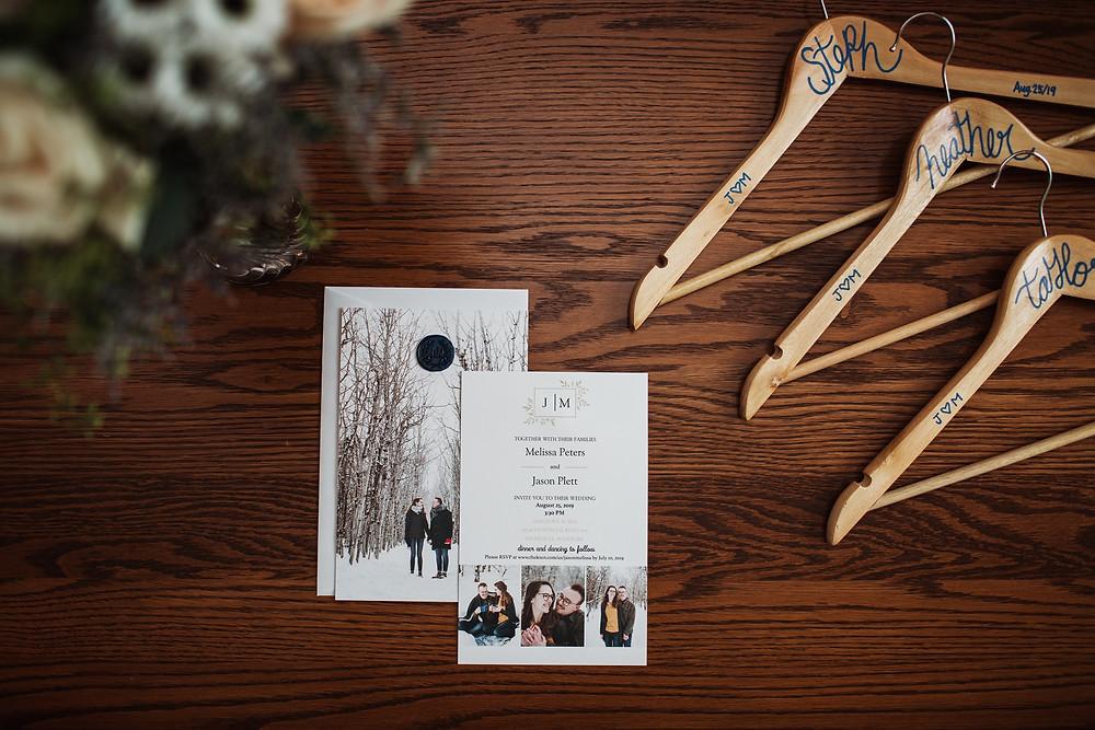 Wedding details for a Manitoban summer wedding.