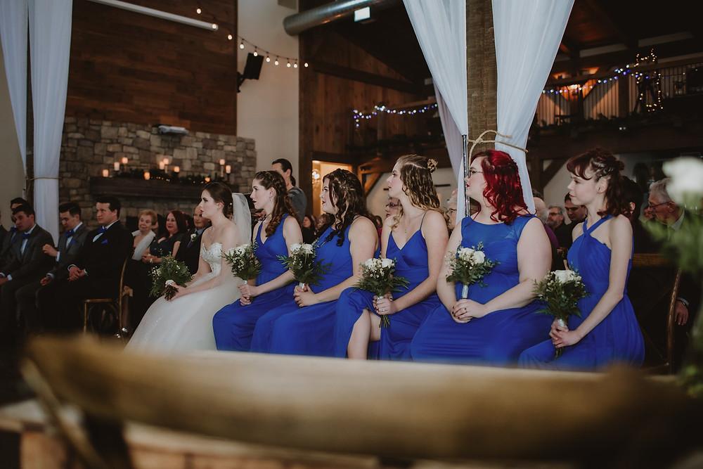"Bridesmaids help bride say ""I do"""