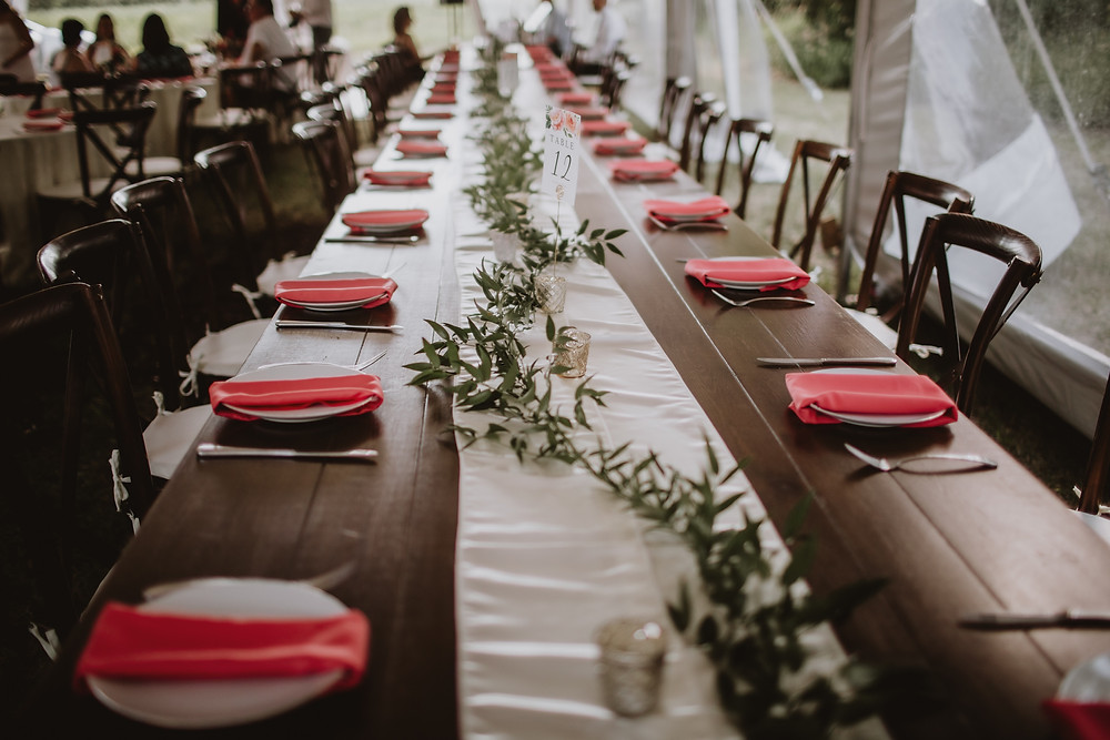 Simple harvest wedding table decor.