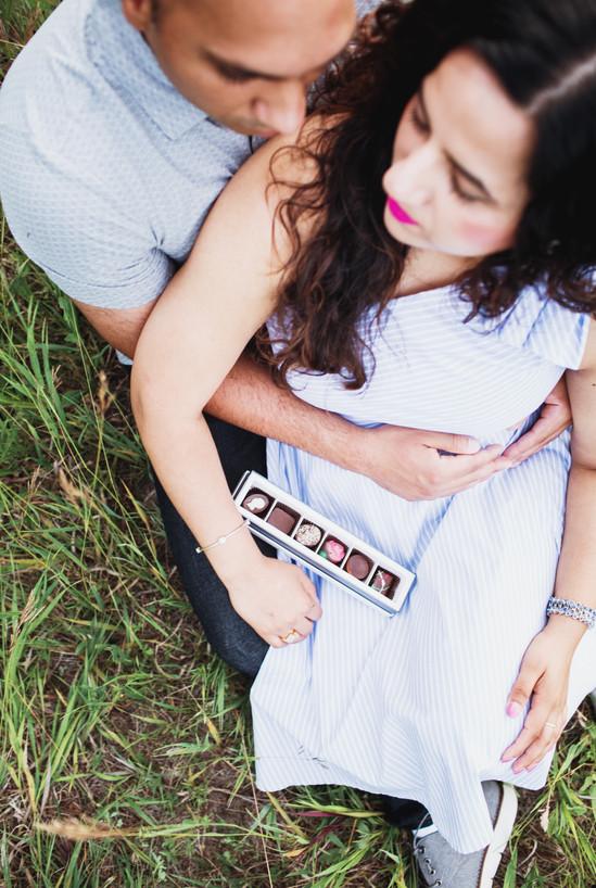 Couple Cuddle in Praire Grass