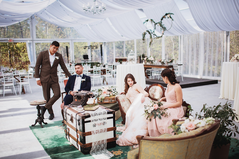 Kinloch grove has space for a lounge in its open air wedding venue.