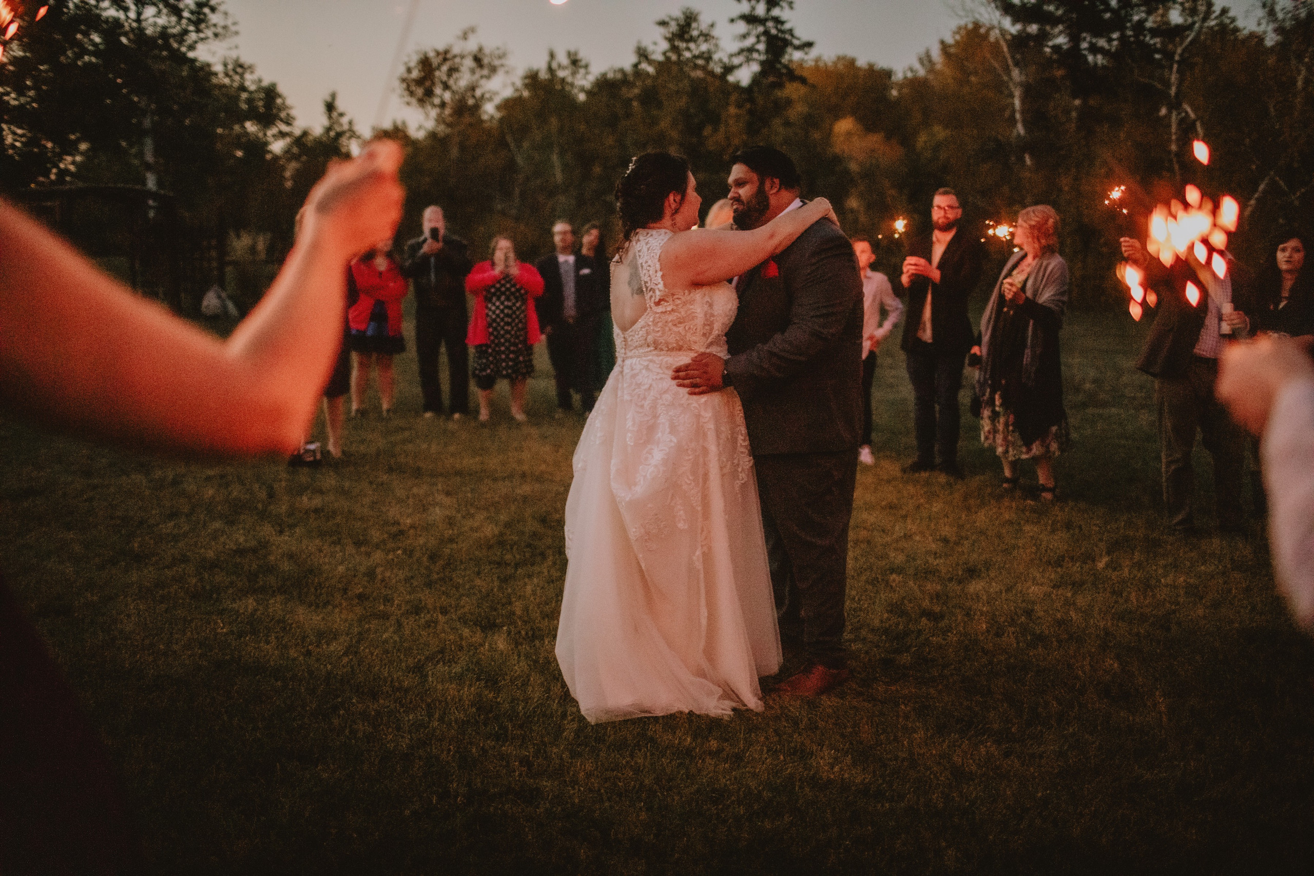 First Dance and Sparklers