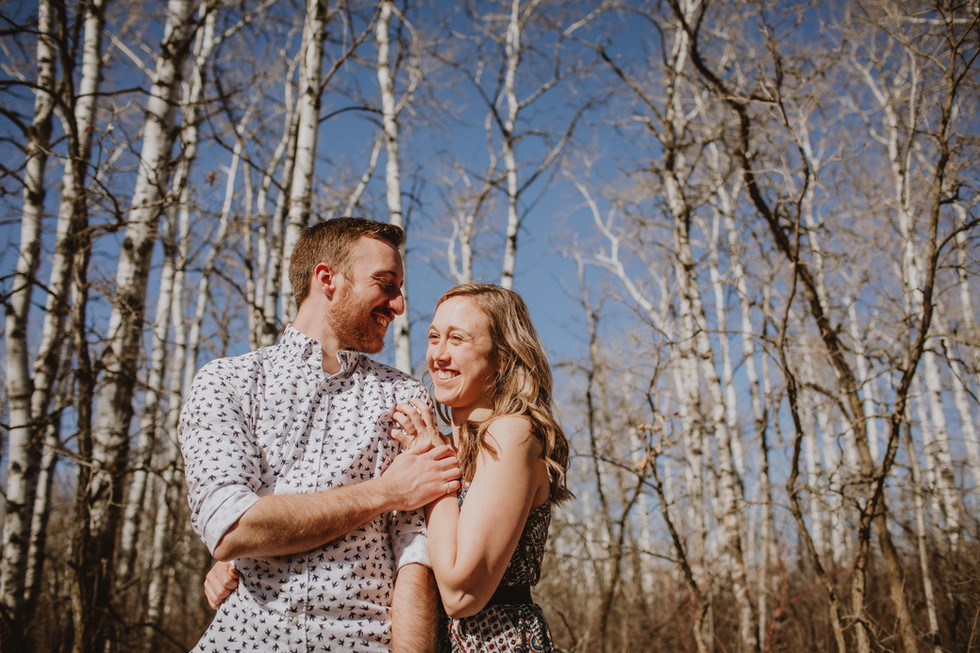 Spring Birds Hill Engagement Photo Session - Sarah and Mike