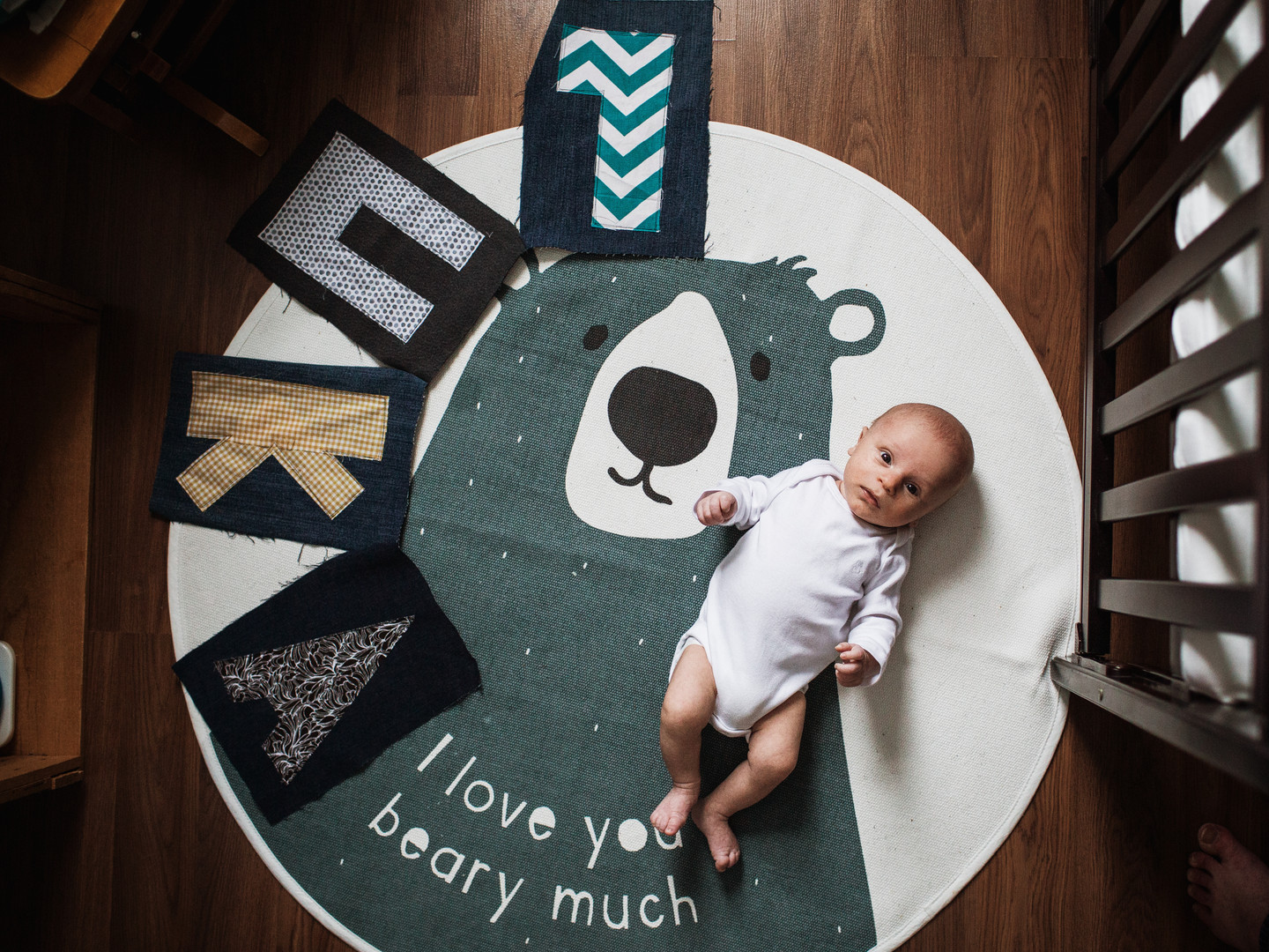 Newborn Boy Poses for First Portraits