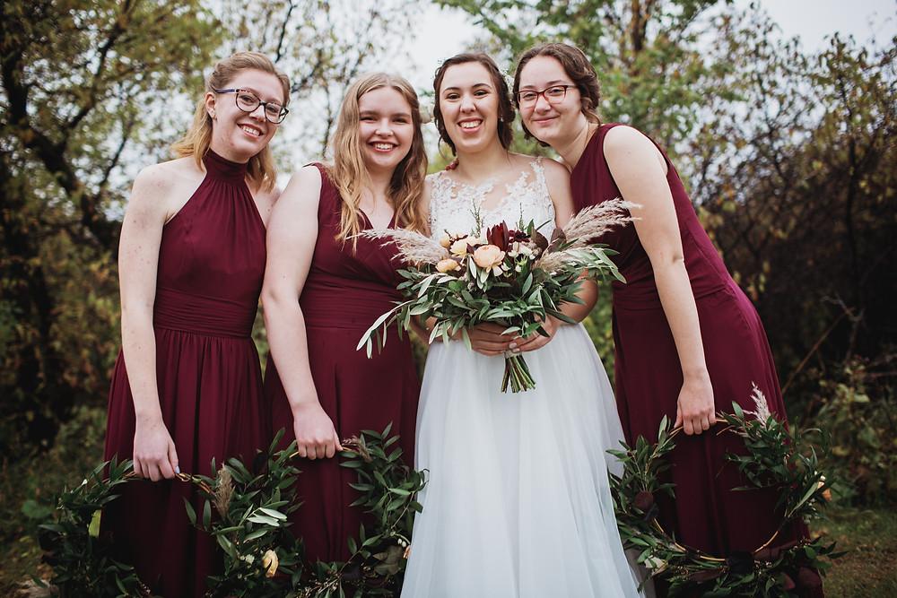 Fall bridesmaid inspiration.