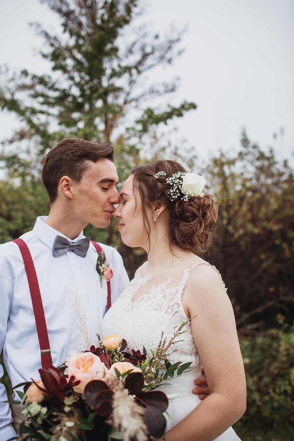 October wedding day in Winkler, Manitoba.