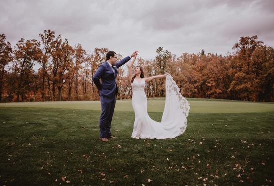 Wedding Couple Dance on Golf Course