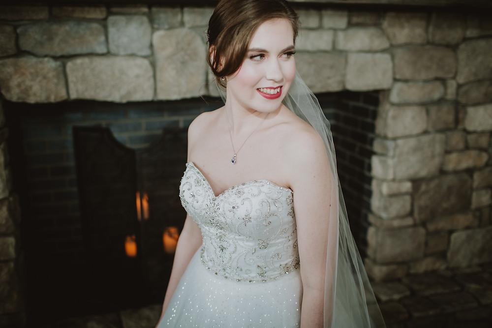 Manitoba bride showcasing her wedding makeup by Nikki Markowski.