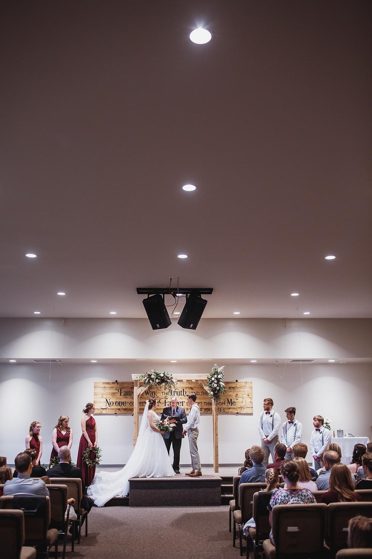 Church wedding ceremony in Manitoba.