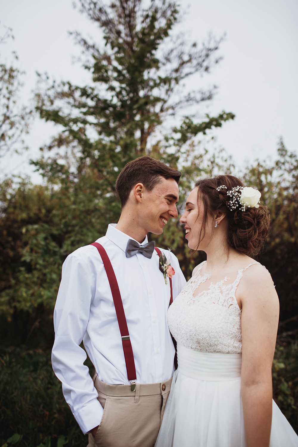 Fall bride and groom inspiration.