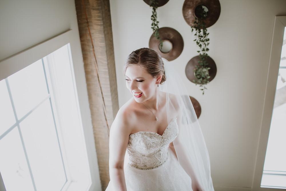 Bridal makeup by Nikki Markowski.