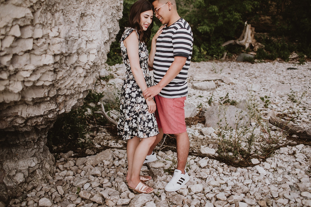 Casual style inspiration for engagement photos.