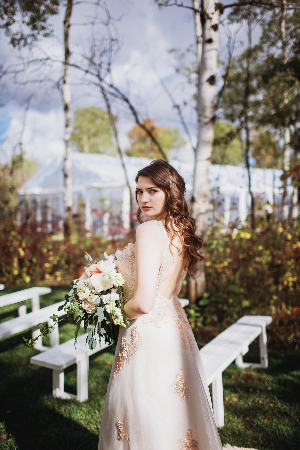 Subtle rosy and blush bridal makeup inspiration.