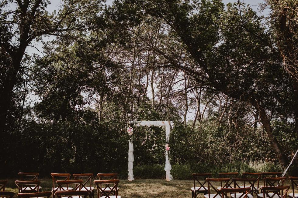 Intimate Backyard Winnipeg Wedding