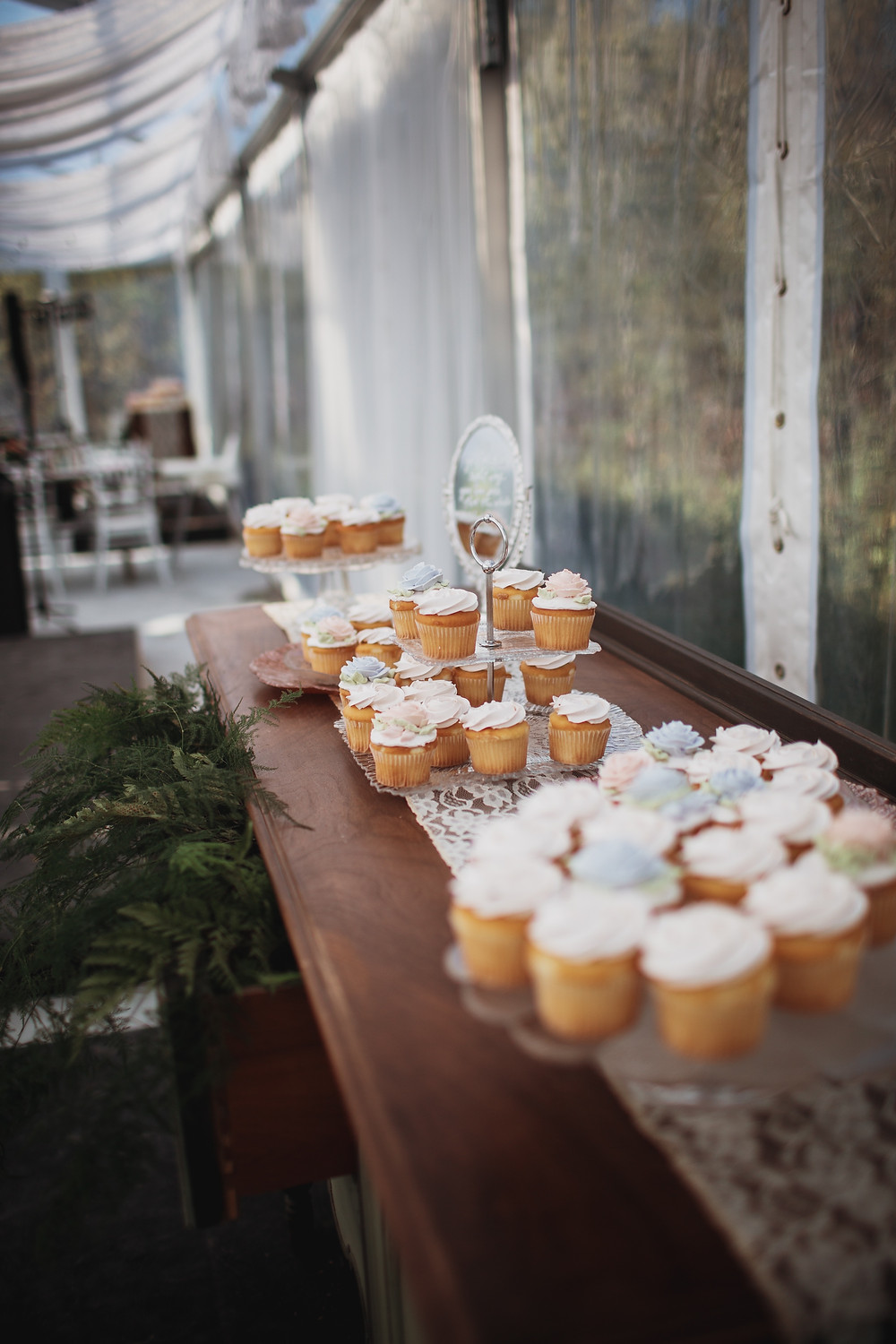 Wedding cupcake towers.