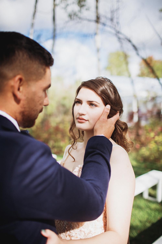 Blush bridal makeup inspo.
