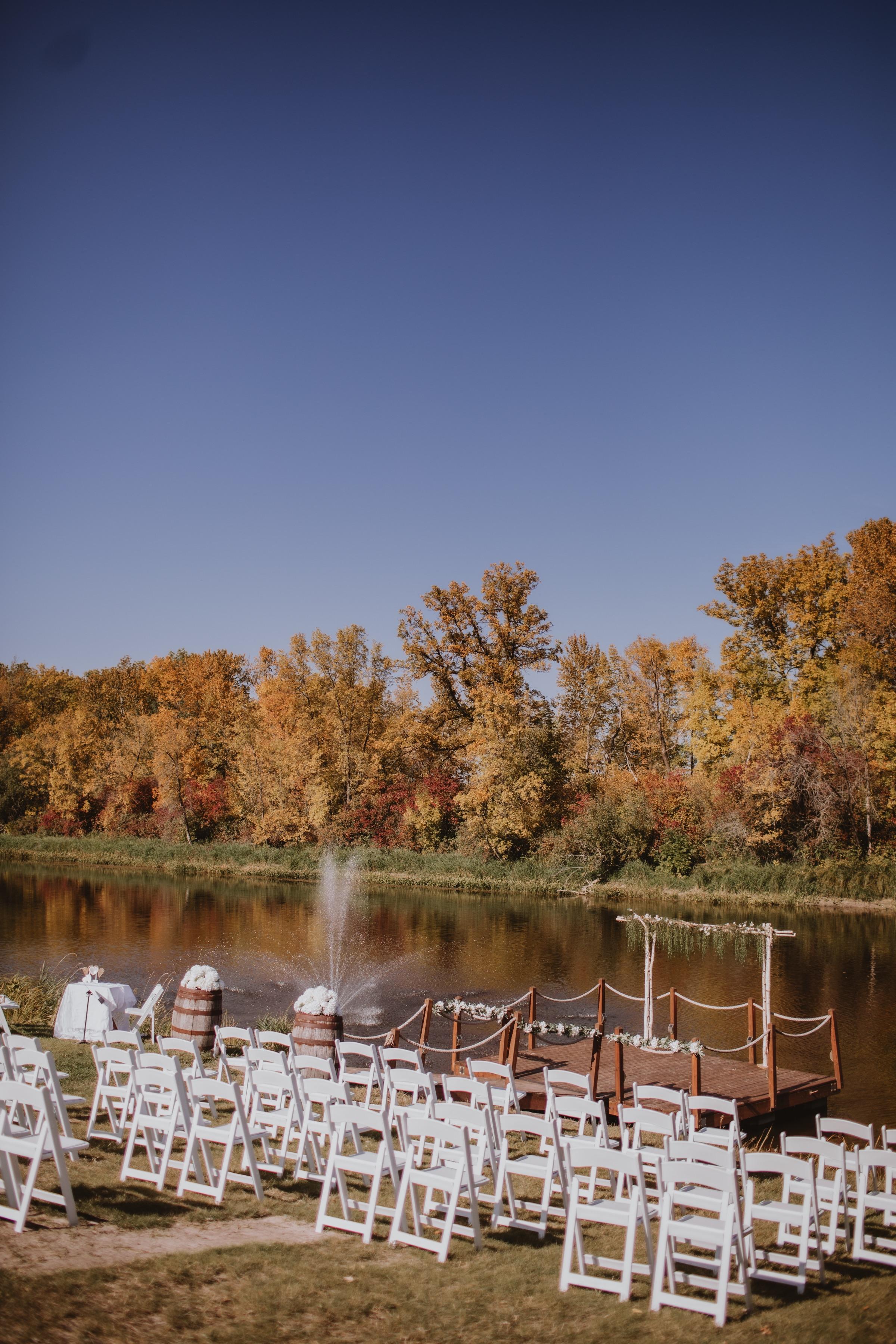 Manitoba Riverside Wedding at Rivers Edge Resort.