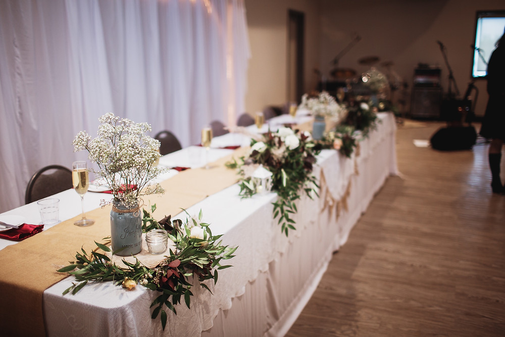 Wedding reception in Southern, Manitoba.
