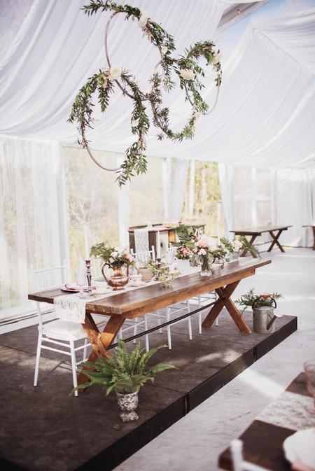 Fall Wedding Reception Head Table