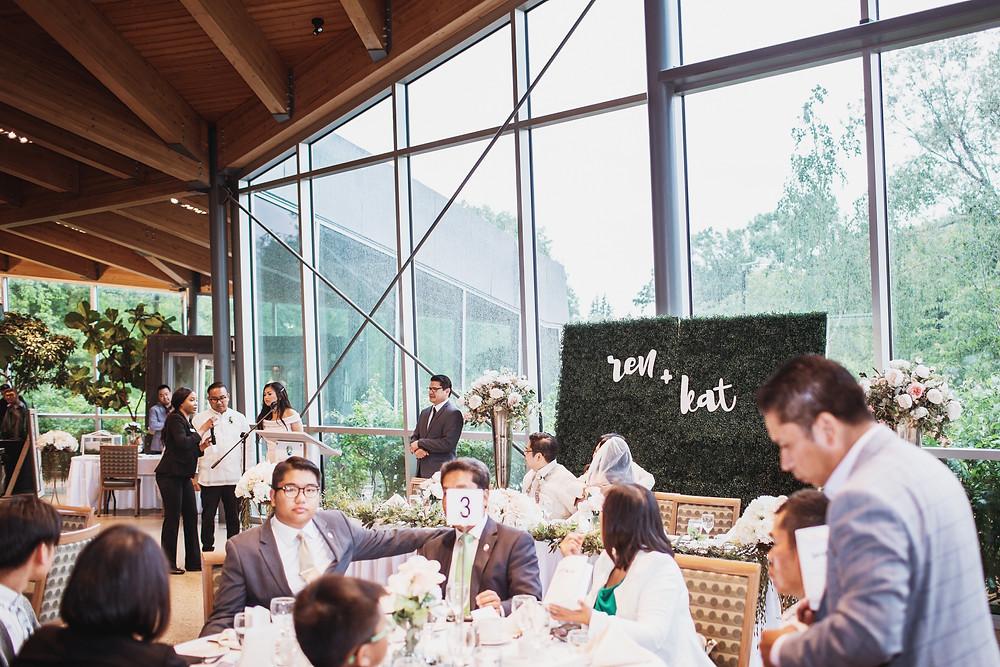 Winnipeg wedding reception in the Qualico Family Center.