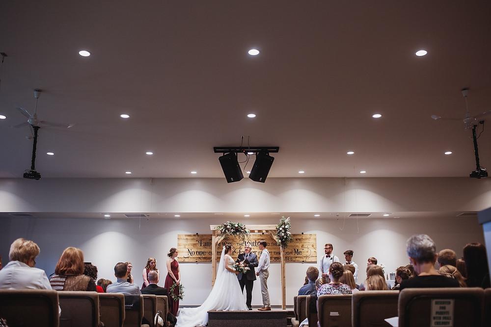 Wedding ceremony in Southern, Manitoba.