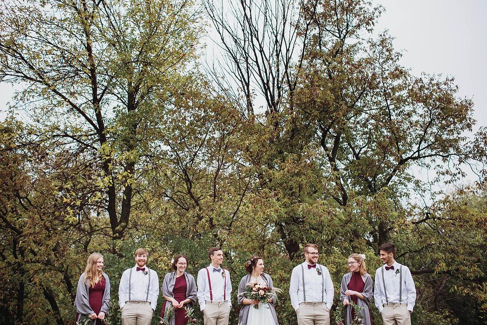 Rainy fall bridal party inspo.