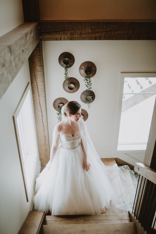 Stunning winter, Canadian bride at Hawthorne Estates.