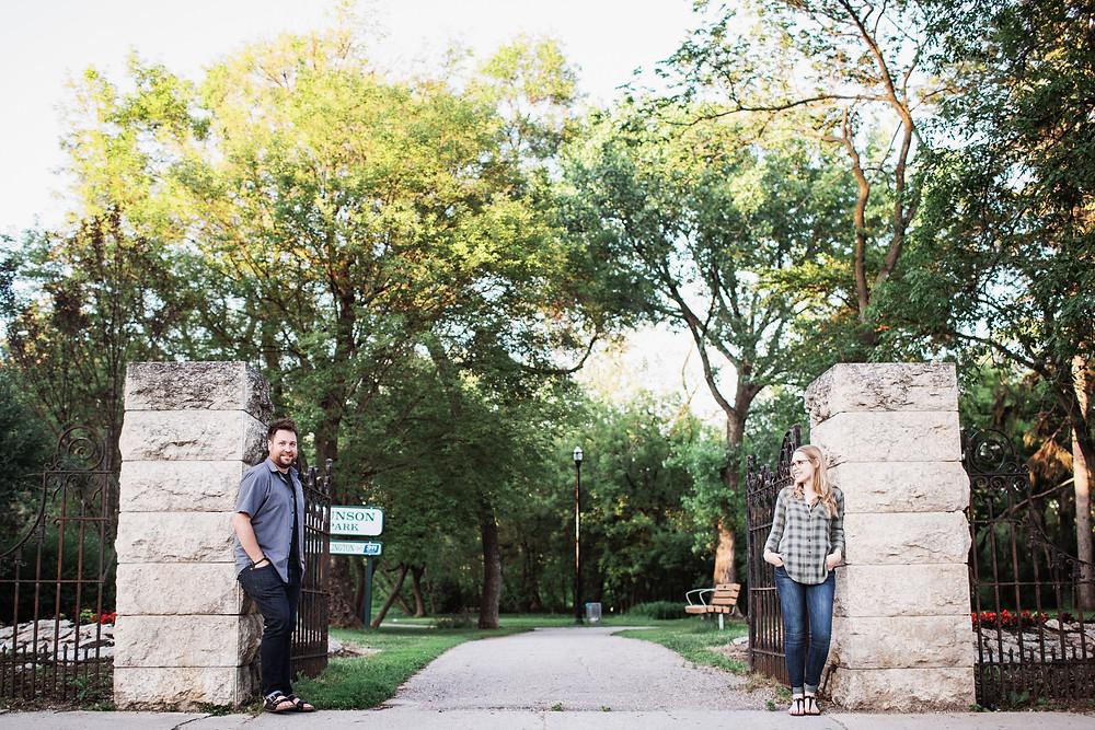 Engagement photo session in Munson Park, Winnipeg, Manitoba.