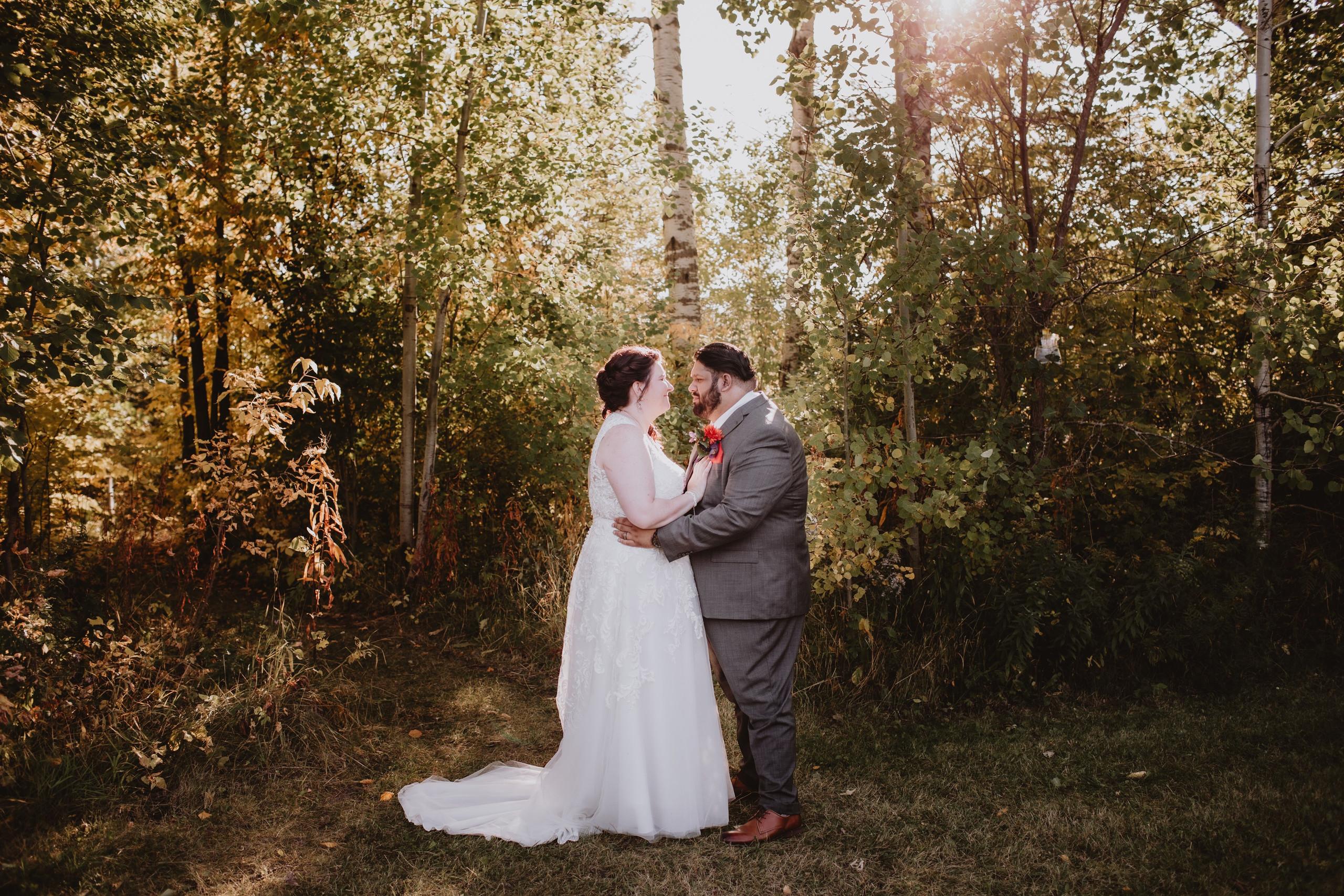 Fall Wedding Day at Rivers Edge Resort.