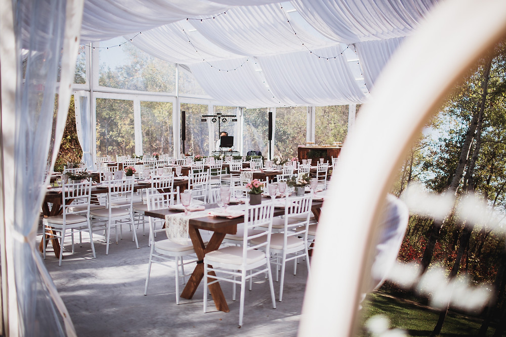 Kinloch Grove, clear tent wedding reception inspiration.