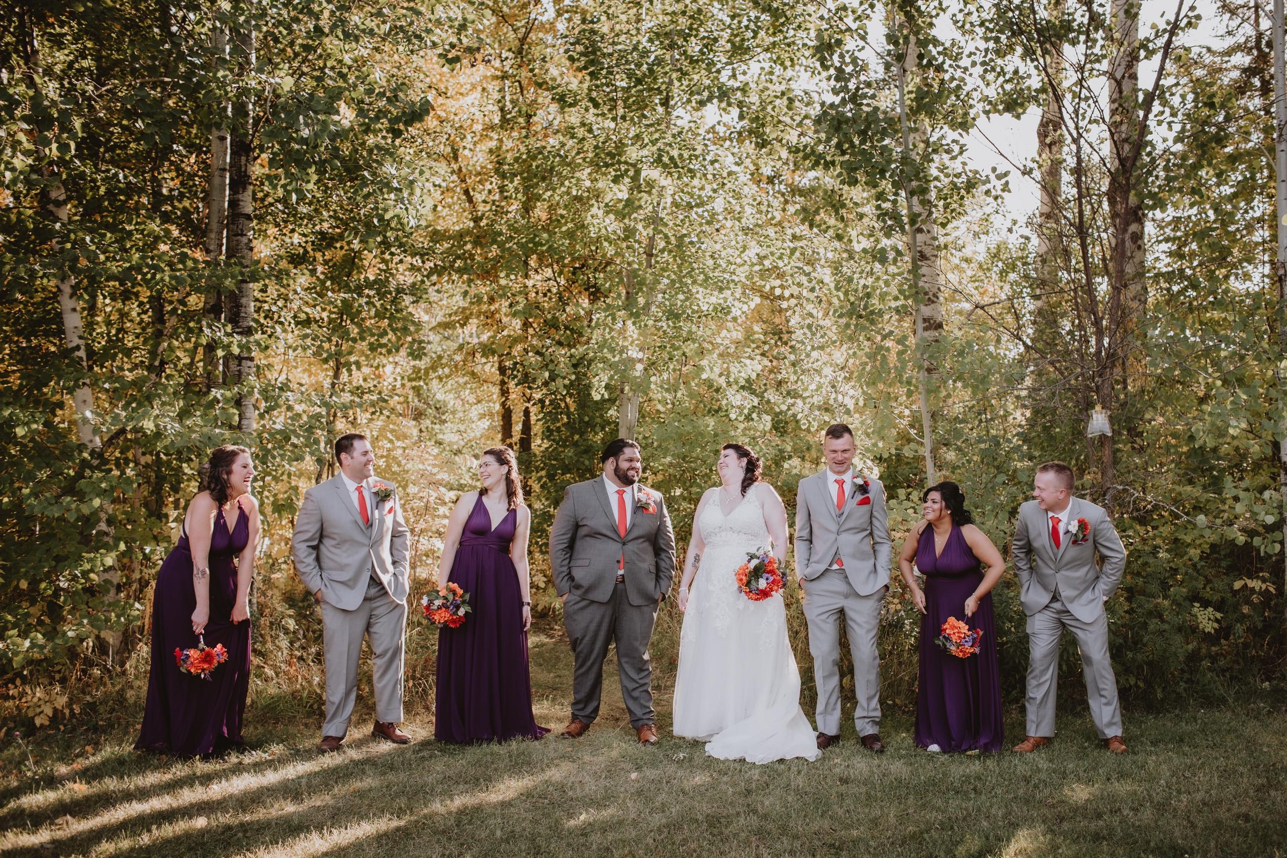 Fun Bridal Party Portrait at Rivers Edge Resort.