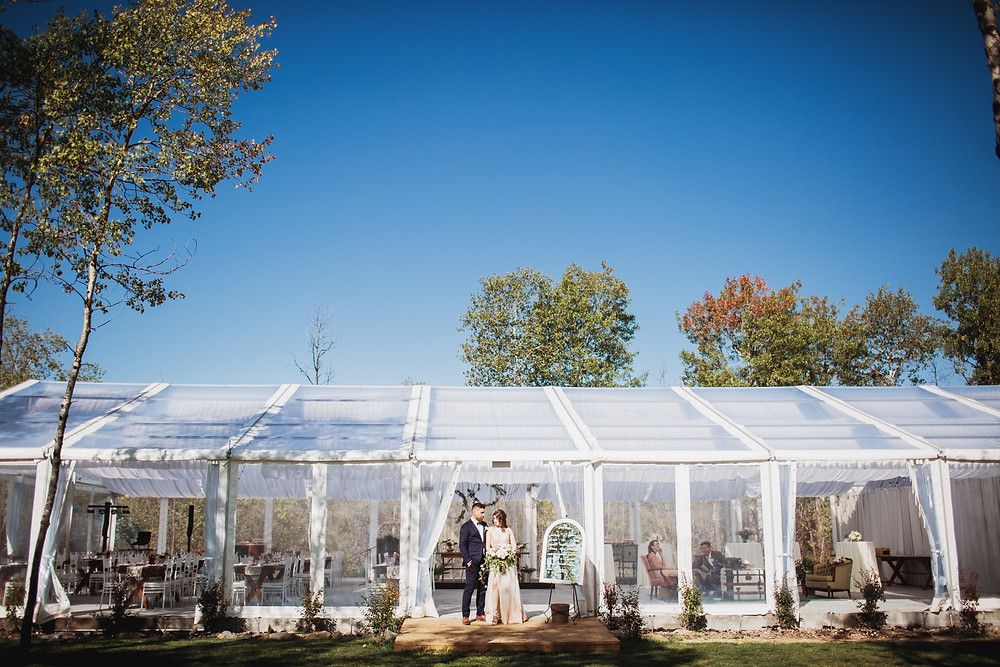 Kinloch Grove's clear tent reception space.
