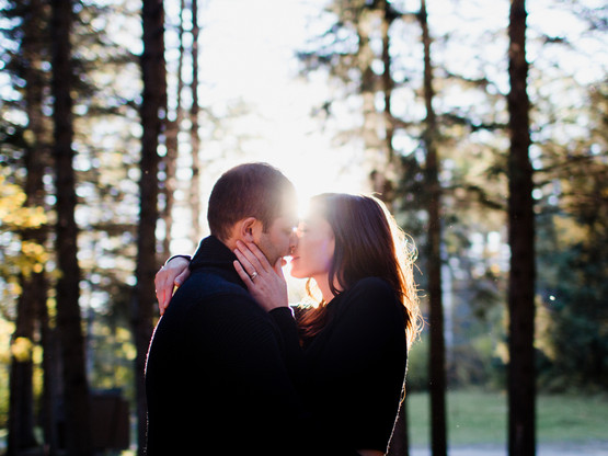 Sunset Engagement Session in Clear Lake, Manitoba