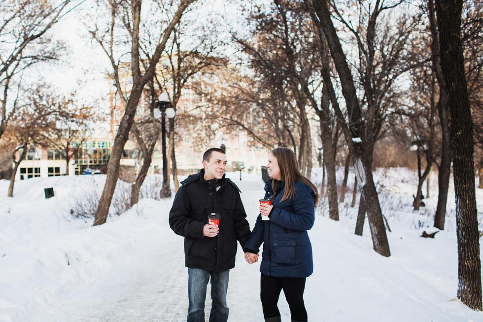 Kayla and David - Winnipeg Engagement Photo Session